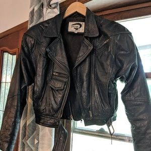 Fox Run Vintage Leather Motorcycle Jacket